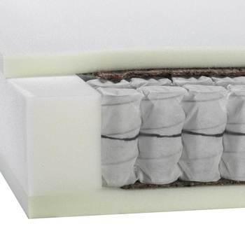 Ensemble Boxspring fixe, Tête de lit, 12 pieds, Matelas avec ressorts ensachés