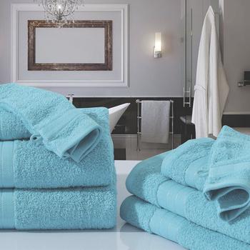 serviette éponge turquoise