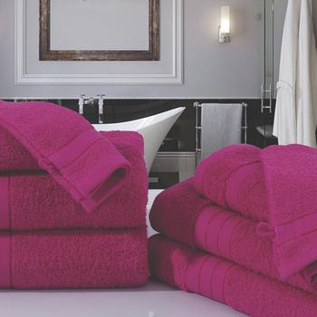 serviette éponge Pink