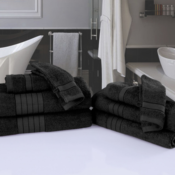 serviette éponge black