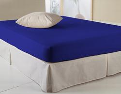 Drap housse bleu