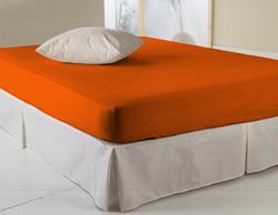 Drap housse orange