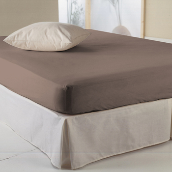 Drap housse taupe