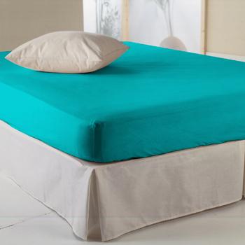 Drap housse turquoise