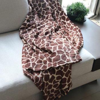 Plaid MF imprimé girafe