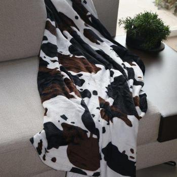 Plaid MF imprimé Vache
